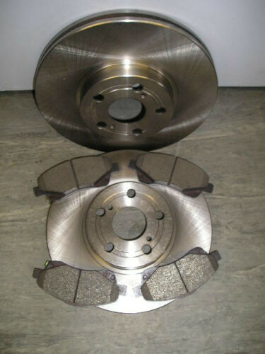 2003-08 TOYOTA AVENSIS 1.8 VVTI FRONT BRAKE DISCS AND PADS NEW COATED DESIGN