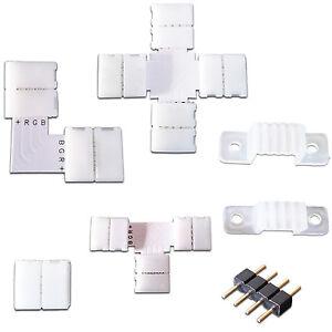 RGB-LED-Strip-Leiste-L-T-Kreuz-Form-Verbinder-Schnellverbinder-Eckverbinder-SMD