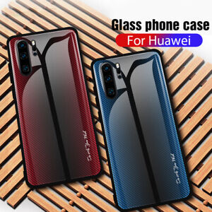 Texture-Silicone-Hard-Cases-9H-Tempered-Glass-Phone-Case-For-Huawei-P30-P20Pro