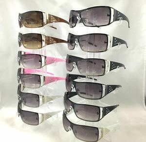 #E1038 sunglasses metal frame with rhinestone wholesale 12 pairs