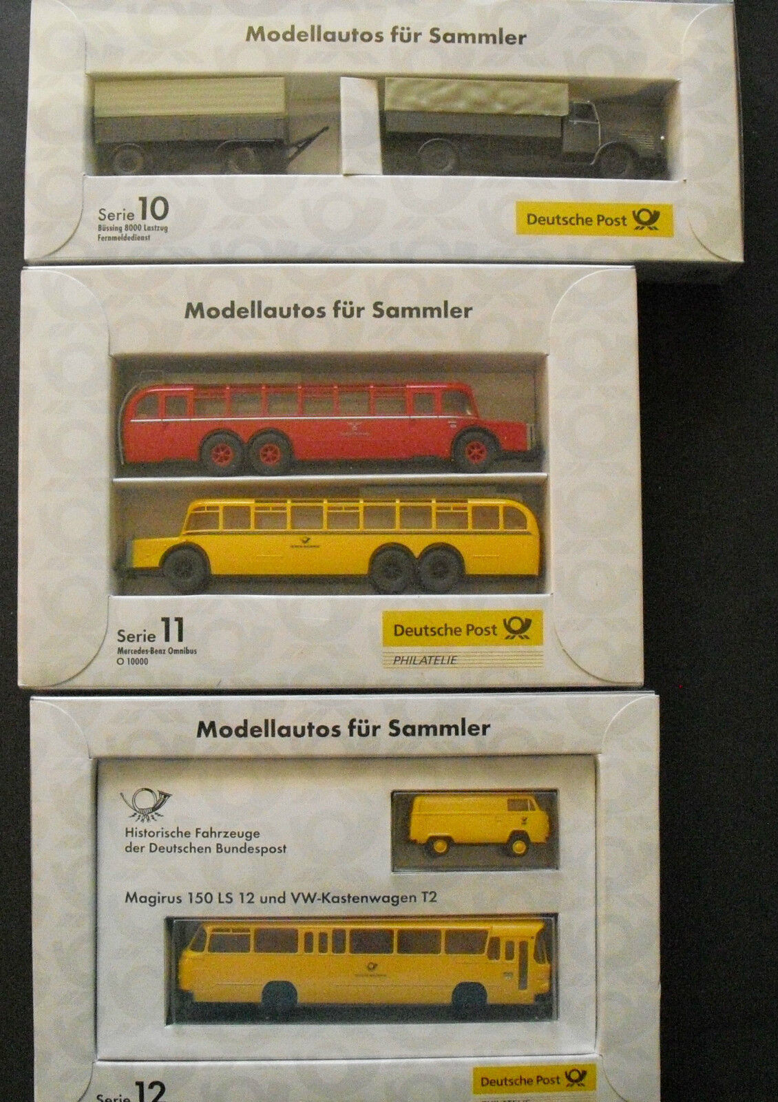 Brekina German Post Historic Vehicles of the German Federal Post Series 10-12