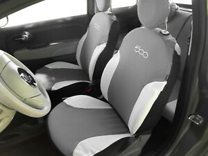 FIAT 500X ALL YEARS Waterproof Front Car Seat Covers Protectors Grey