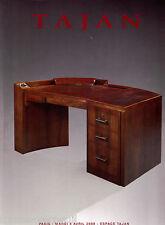 Auction catalog French Catalogue Tajan Art Deco XXe siecle 20th century Design