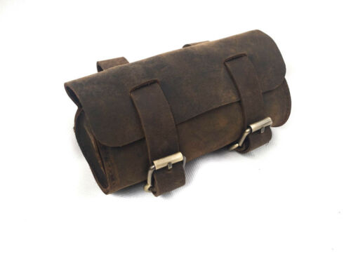 Bicycle Tool Roll Bag Distressed Leather by John Shooter England