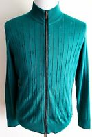 $3750 Stefano Ricci Emerald Cashmere Silk Suede Jacket Cardigan 50 Eu Medium