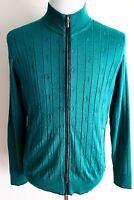 $3750 Stefano Ricci Emerald Cashmere Silk Suede Jacket Cardigan 50 Eu Medium