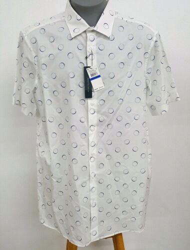 Perry Ellis Principles BT White Blue Circle S//S Men/'s Shirt NWT $75 Choose Size