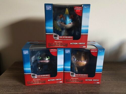 How to Train Your Dragon Action Vinyl Figure Set of 3 Toothless Meatl Stormfly