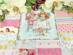"Pink, Blue, Yellow, La 5/"" /""Sweet Sunbonnet Emma-Pre-cut QUILT KIT-Baby or Child"