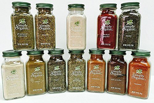 NEW Simply Organic Gourmet Starter 12 Spices Gift Set FREE SHIPPING