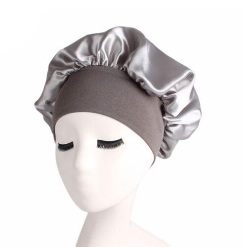 Femmes Satin Sleep Cap couverture complète Douce nuit de sommeil Chapeau Bonnet chimiothérapie Cap