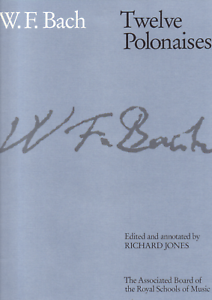 12-POLONAISES-W-F-BACH-Piano-Sheet-Music-Book-Classical-Shop-Soiled