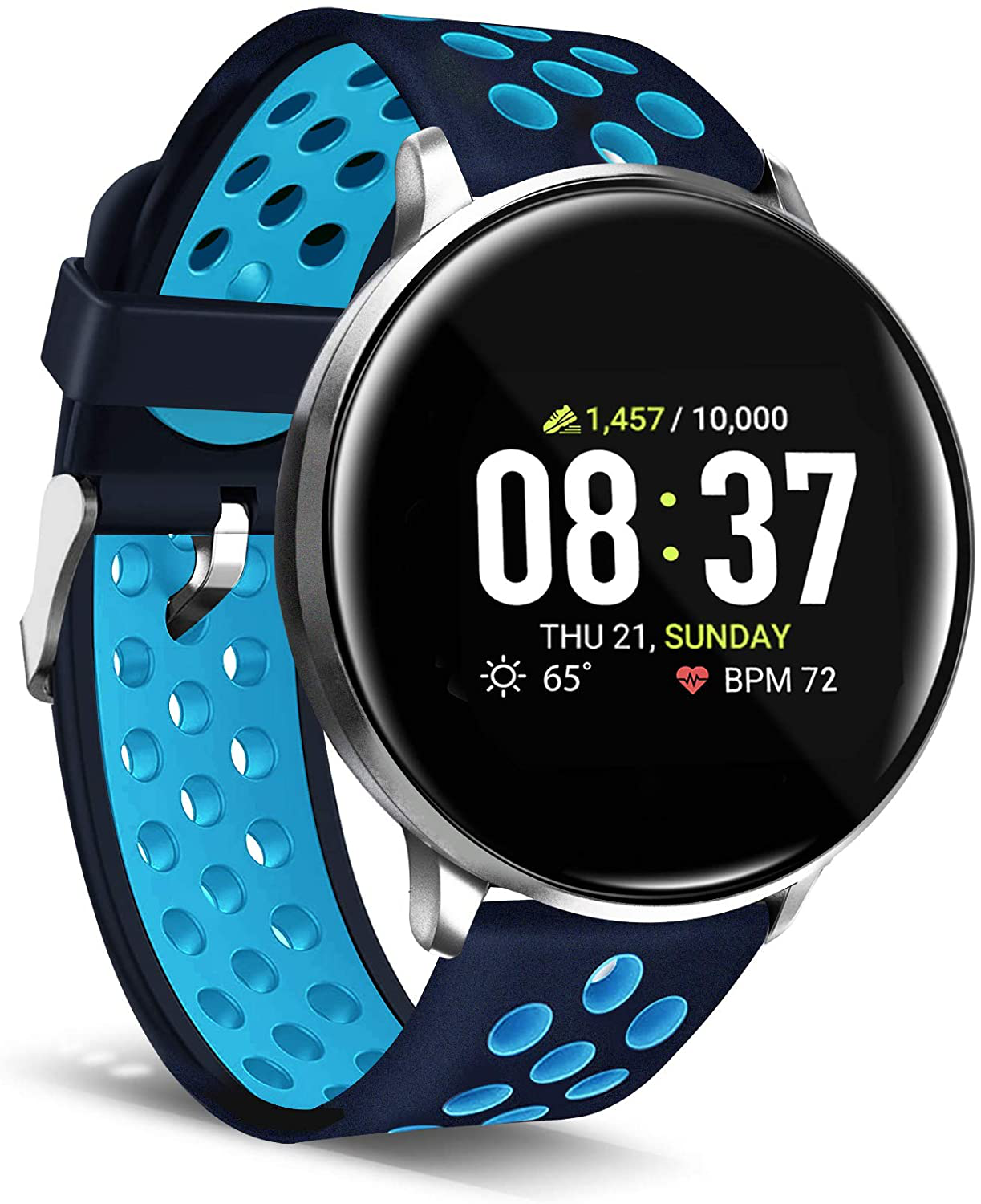 Itouch Sport Smartwatch Fitness Tracker Heart Rate Perforated Navy/Turquoise fitness heart itouch perforated rate smartwatch sport tracker