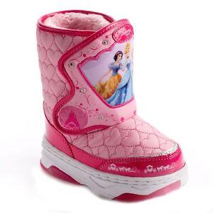 New 50 Off Princess Girls Disney Light Up Snow Boots