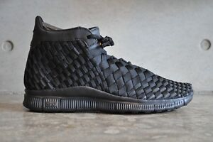 competitive price 0af76 4d7c5 Image is loading Nike-Free-Inneva-Woven-Mid-SP-Triple-Black-