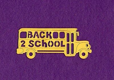 BUS SCHOOL BACK TO SCHOOL die cut scrapbook cards