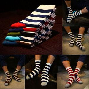5-Pairs-Lot-Men-039-s-Designer-Fashion-Dress-Socks-New-Stripe-Argyle-Color-Size-6-11