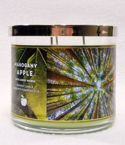 1 Bath /& Body Works MAHOGANY APPLE Large 3-Wick Scented Candle