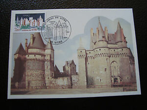 FRANCE-carte-1er-jour-24-9-1977-chateau-de-vitre-cy39-french