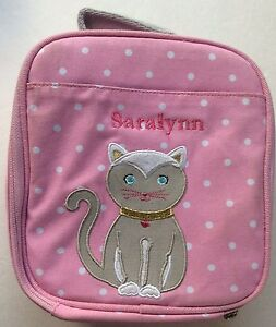 New Pottery Barn Kitten Cat Lunch Box Saralynn Pink Ebay