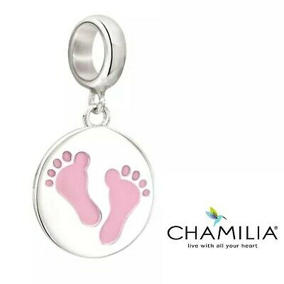 ANTIQUE SILVER FOOTPRINT CHARM BABY FEET FAMILY FOOTPRINTS U CHOOSE