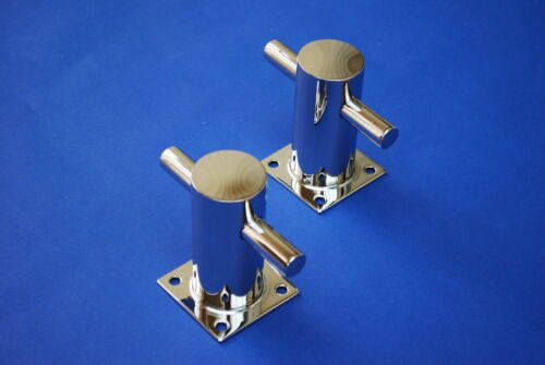 Pair Bollards 50mm 316 Stainless Steel Highly Polished Boat Marine