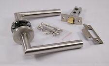 Mitred Door Handle Pack (Latch Set) Satin Stainless Steel