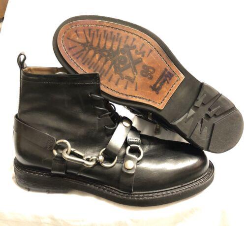 Nuevo a.s. 98 Airstep botas talla 45 Hoxton botas botines de cuero Black Leather