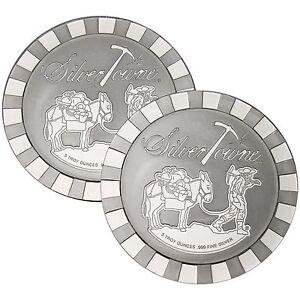 SilverTowne-Stackables-Trademark-Prospector-5oz-999-Silver-Medallion-2pc