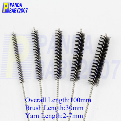 25× 100mm HAIRBRUSH AIRBRUSH TATTOO CLEANING NOZZLE MOTORCYCLE CARBURETOR BRUSH