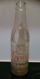 Collectable Older Vintage Glass Noon's cordial bottle