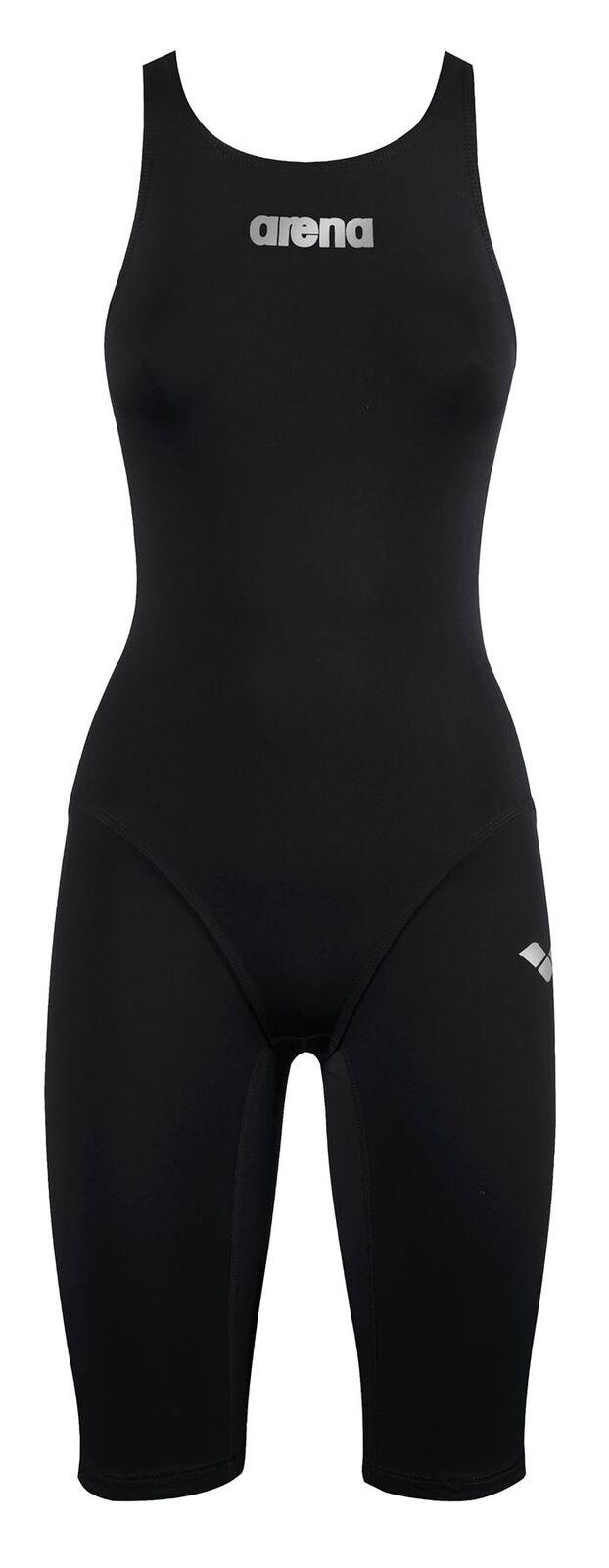 Arena - Ragazze Powerskin San Corpo Pieno Aperto Kneesuit- Nero - Kneesuits