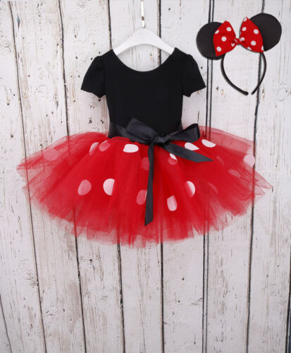 Headband Kids Girls Baby Toddler Minnie Mouse Outfits Party Costume Tutu Dress