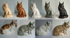cat figurine handmade Bombay cat porcelain figurine