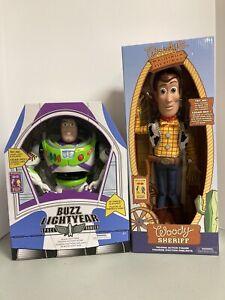 Disney Toy Story 4 - Talking Interactive Cowboy Woody & Buzz Lightyear - New