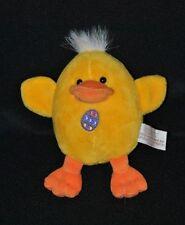 Peluche doudou canard poussin jaune GIPSY musical vibrant orange oeuf 14 cm TTBE