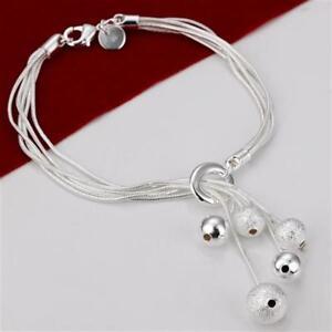 ASAMO-Damen-Armband-mit-5-Kugeln-925-Sterling-Silber-plattiert-Schmuck-A1243