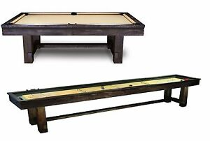 Reno Pool Table Package W Shuffleboard Rustic Finish W FREE - Reno pool table