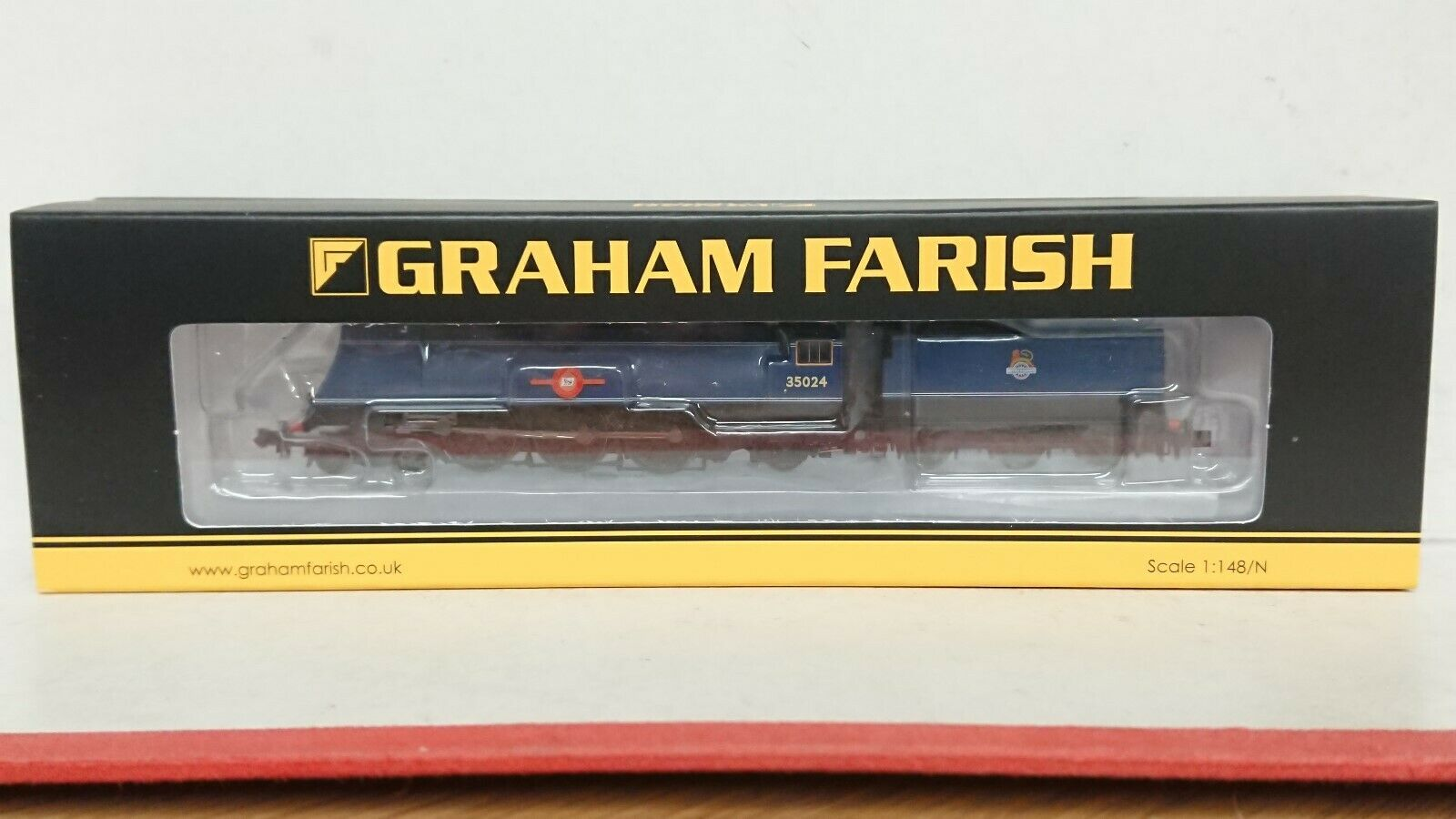 Graham Farish N Gage 372 -310 Merchant Navy Class East Asiatic företag 6DCC NEW