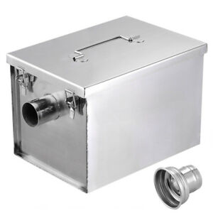 8LB-Commercial-5GPM-Gallons-Per-Minute-Grease-Trap-Stainless-Steel-Interceptor