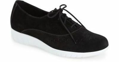 Original New Munro Women's Wellesley Oxford Sneaker Size Women 7.5 N $200 Ideal Gift For All Occasions Black Suede