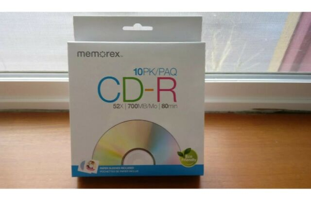 CD-R Blank 10 discs with sleeves🤗 NEW CDs Music Mp3 CD Memorex 52x 700mb 80min