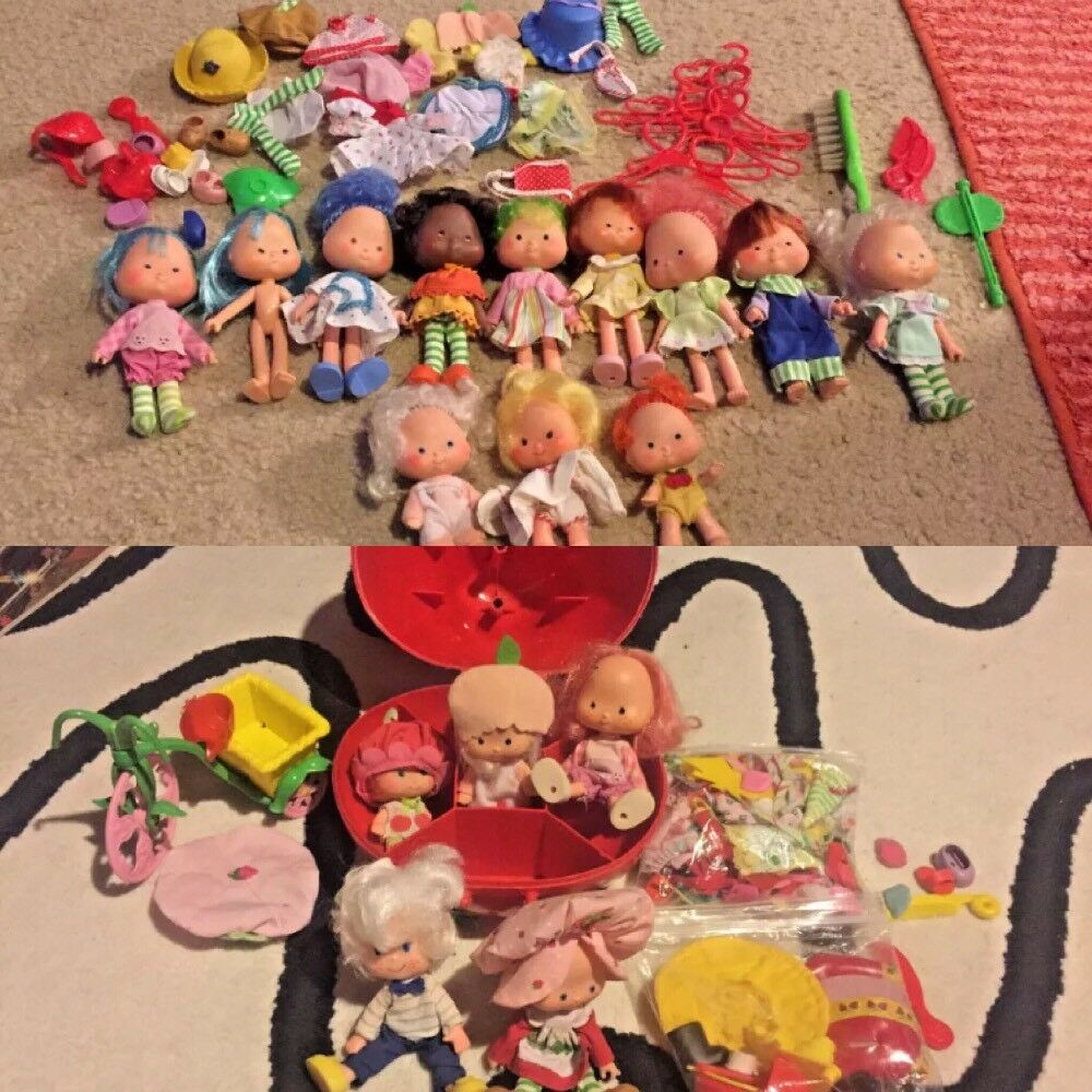 Huge Lot Vintage Strawberry Shortcake & & & Friends Gazebo Bike Dolls Accessories 112c9e