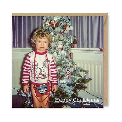 Funny Unique Vintage Retro Christmas Caravan Card Nostalgia 1970s Xmas Honovi
