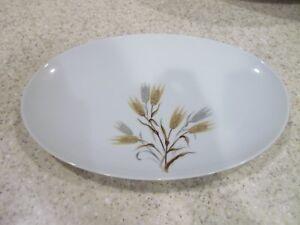 1-Platter-12-1-4-034-Platter-RC-Japan-White-Gold-amp-Silver-Wheat-Noritake