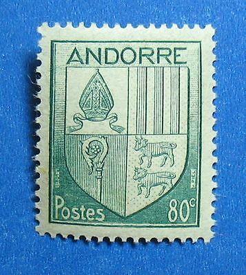 Shop For Cheap 1944 Andorra French 80c Scott# 84 Michel # 101 Unused Cs27557 We Take Customers As Our Gods Andorra Europe