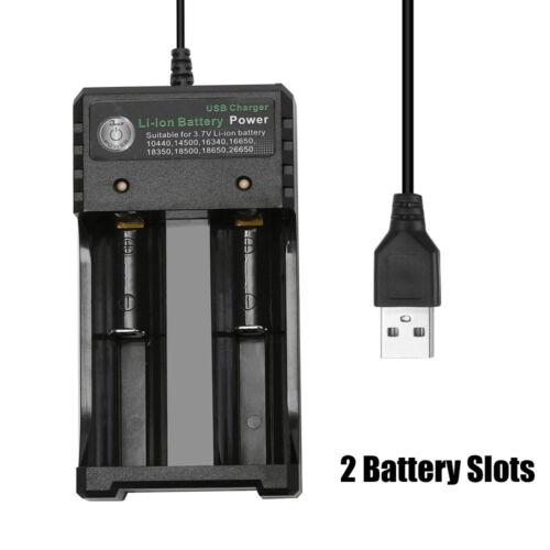 3.7V 18650 Ladegerät Li-Ion Akku USB Unabhängiges Laden Kurzschlussschutz neu