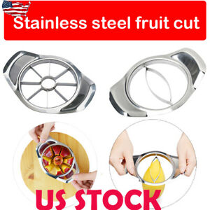 US-Stainless-Steel-Fruit-Apple-Corer-Mango-Slicer-Kitchen-Splitter-Cutter-Tools