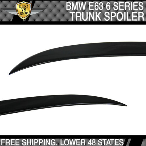 For 04-08 E63 BMW 6-Series 2Dr Coupe Trunk Spoiler V Style Painted#668 Jet Black