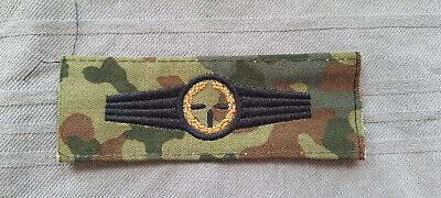 Bundeswehr Tätigkeitsabzeichen Sicherungspersonal schwarz auf flecktarn TTA